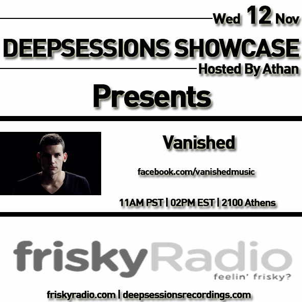 Deepsessions – w/Vanished – November 2014 @ Friskyradio